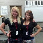 Kelsey and I in choir class